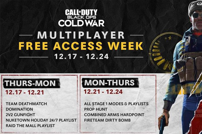 Play COD: Black Ops Cold War for free for one week