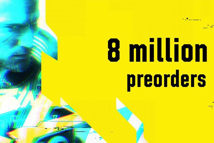 Cyberpunk 2077 hits 8 million pre-orders