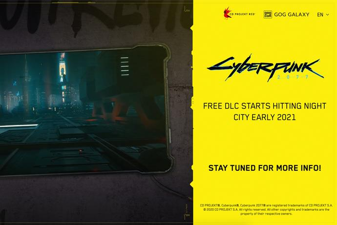 Cyberpunk 2077's first free downloadable content will arrive in a few months