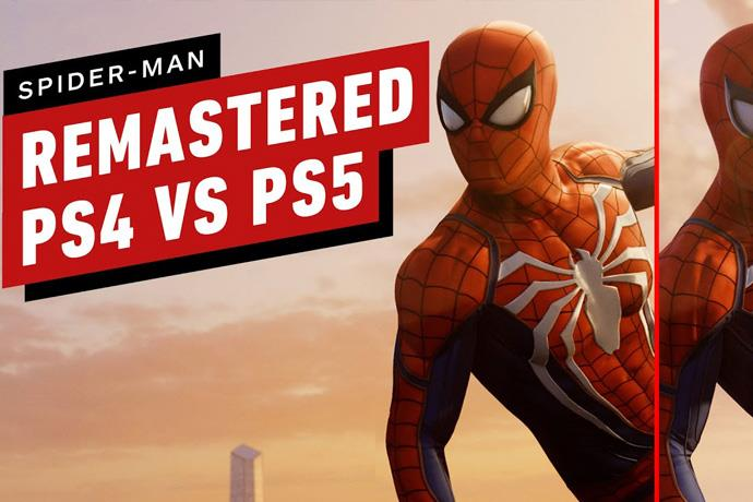 Graphics comparison of Spider-Man Remastered on PS4 vs PS5